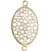 Brass Connector Oval Filligree 22x15mm